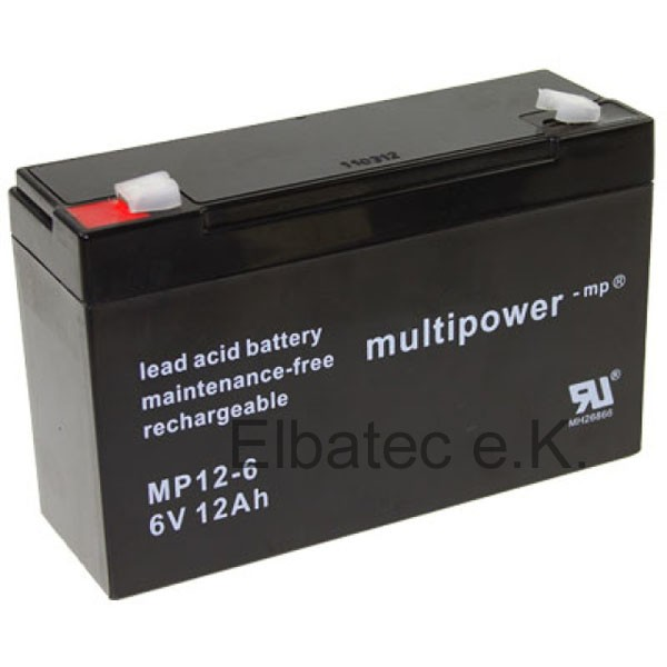 Multipower MP12-6 Bleiakku