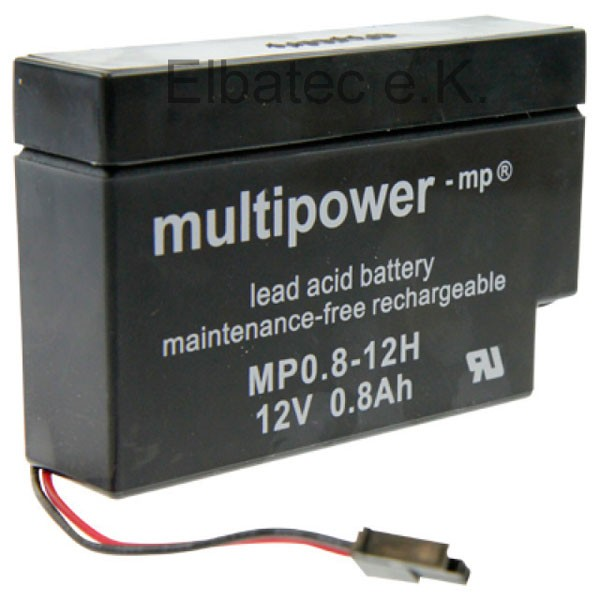 Multipower Akku 12V 0,8Ah MP0.8-12H