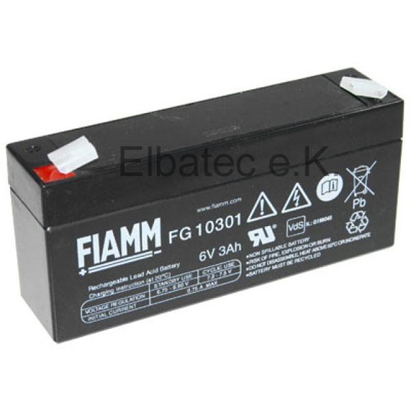 FIAMM FG10301 Bleiakku 6V 3,0Ah