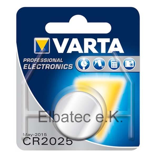 Varta 6025 Knopfzelle CR2025