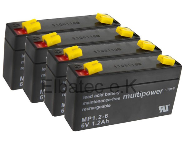 Akku Satz Multipower für Völker Patientenbett S960-2