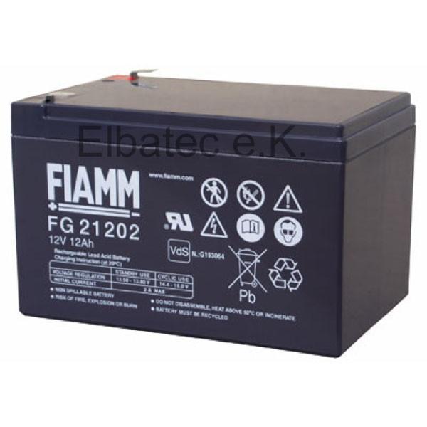 FIAMM FG21202 Bleiakku 12V 12Ah
