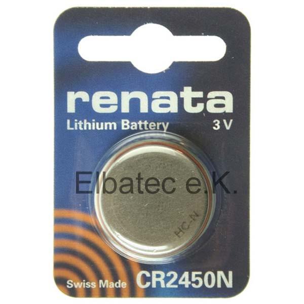 Renata Knopfzelle CR2450N (Schmaler Ring)
