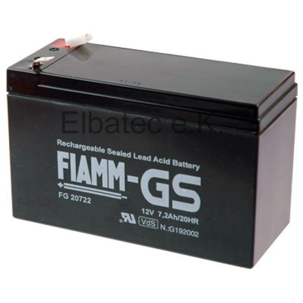 FIAMM FG20722 Bleiakku 12V 7,2Ah
