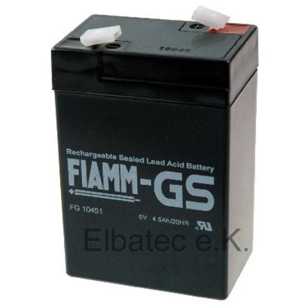 FIAMM FG10451 Bleiakku 6V 4,5Ah