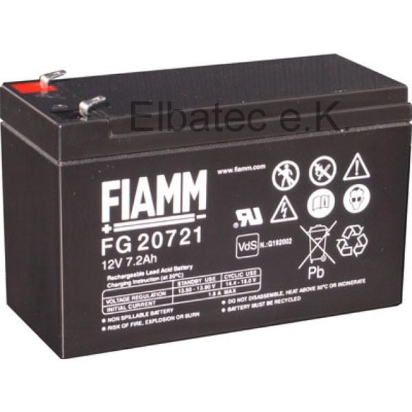 FIAMM FG20721 Bleiakku 12V 7,2Ah