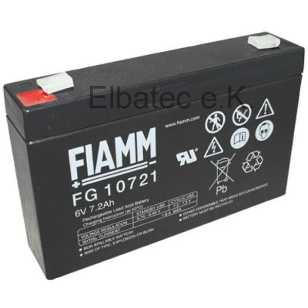 FIAMM FG10721 Bleiakku 6V 7,2Ah